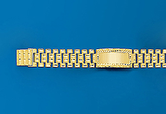 "10Kt 8"" Mens Rolex Style Bracelet"