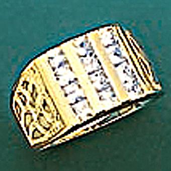10Kt Mens CZ Ring
