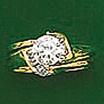 10Kt Ladies Duo Set CZ Ring
