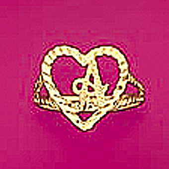 10Kt Yellow Gold Initial Heart Ring
