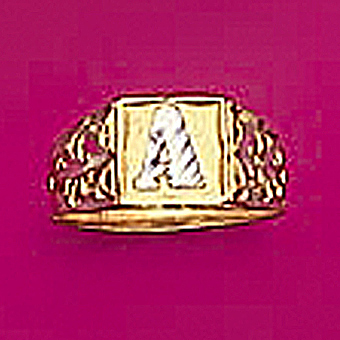 10Kt Yellow Gold Initial Ring