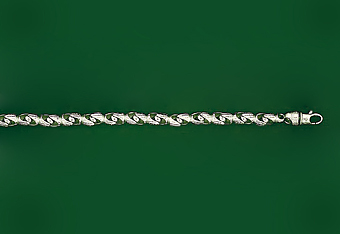 14Kt White Gold Super Bullet Chain