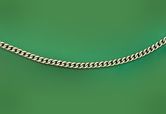 14Kt White Gold Hollow Franco Chain