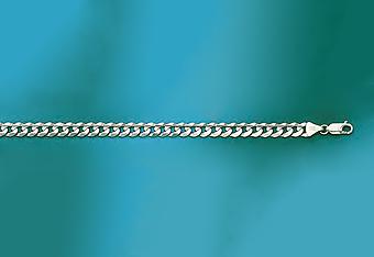 7mm 14K White Gold Curb Mens Chain