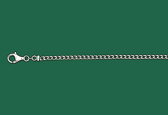 2.5 mm 14K White Gold Solid Franco Mens Chain