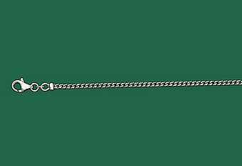 2.0 mm 14K White Gold Solid Franco Mens Chain