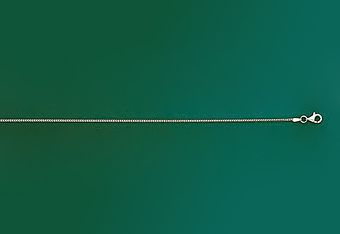 1.0 mm 14K White Gold Solid Franco Mens Chain