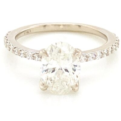 2.02 ctw. Oval Cut Diamond Ring Set in Our Best Seller Diamond Setting