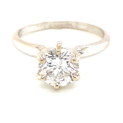 1.72 ct. Round Brilliant Cut Diamond Solitaire Engagement Ring in 14K White Gold