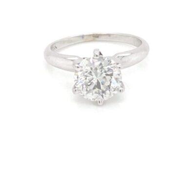 2.75 ct. Round Diamond Ring in 14k White Gold