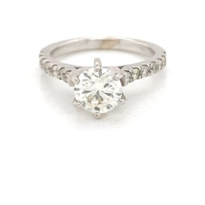 1.90 ctw. Round Cut Diamond Ring in a Dazzling Six-Prong Setting