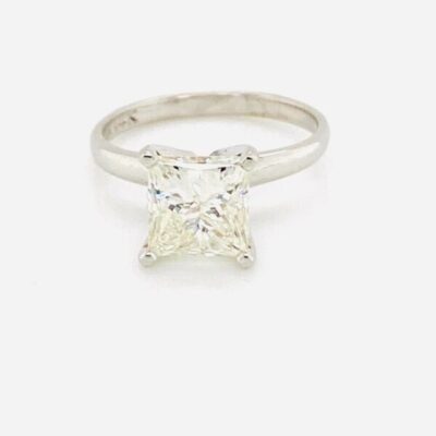 1.81 ct. Princess Cut Solitaire Ring