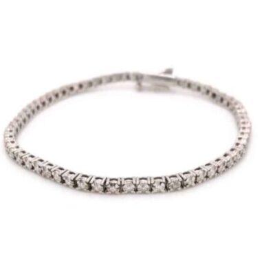 1.21 ctw. Glittering Diamond Bracelet with Round Cut Gems