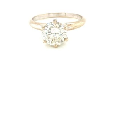 2.04 ct. Round Cut Diamond Solitaire Engagement Ring