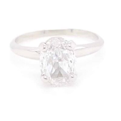 1.62 ct. Oval Cut Diamond Ring set in White Gold
