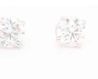 1.01 ctw. Round Brilliant Diamond Stud Earrings in 14k White Gold