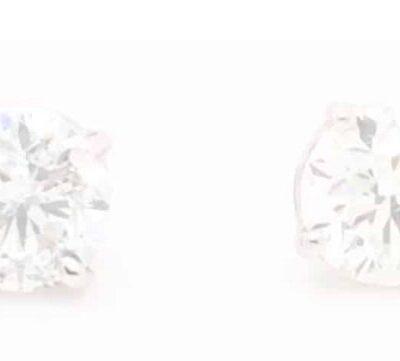 4.16 ctw. Round Brilliant Diamond Stud Earrings in 14k White Gold