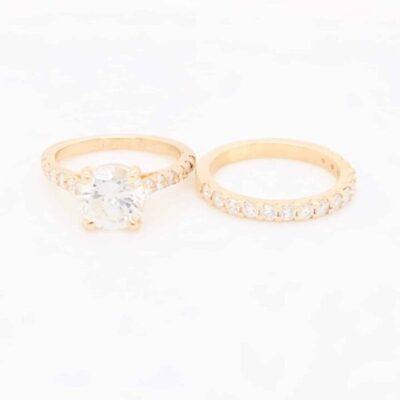 2.60 ctw. Round Cut Diamond Ring in 14K Yellow Gold