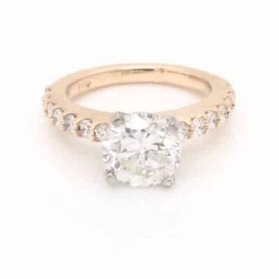 1.75 ct. Round Brilliant Cut Diamond Set in a 14K Yellow Gold Diamond Setting