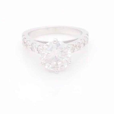 2.66 ctw. Round Diamond Ring Set in 14k White Gold
