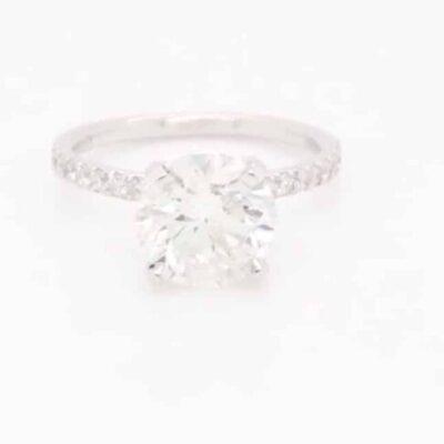 2.36 ctw. Round Brilliant Cut Diamond Ring set in a 14k White Gold Diamond setting