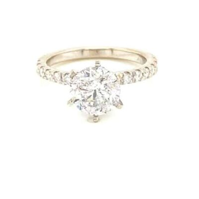 2.41 ctw. Brilliant Round Cut Diamond in Our Best Selling 14K White Gold Diamond Setting