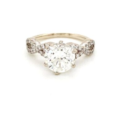 2.03 ctw. Brilliant Round Cut Ring set in a Twinkling Diamond Infinity Band