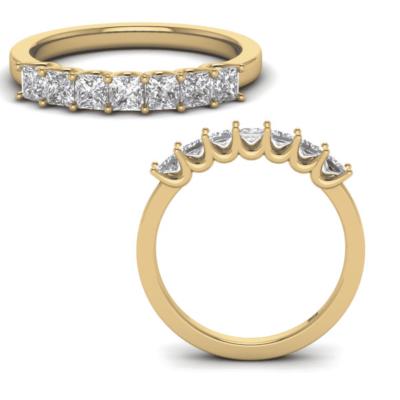 1.25 ctw. Princess Cut Simple 7 Stone Anniversary Ring