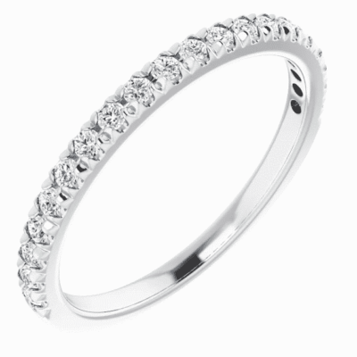 0.25ctw. French-Set Anniversary Band with Round Cut Diamonds in Platinum
