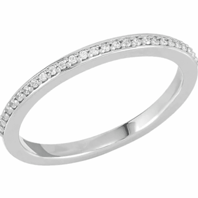 0.33 ctw. Floral Round Cut Diamond Band in the Precious Metal of Your Choice