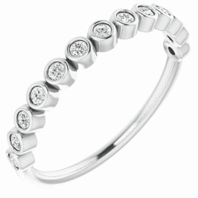 0.20 ctw. Bezel Set Anniversary Band with Shining Round Cut Diamonds