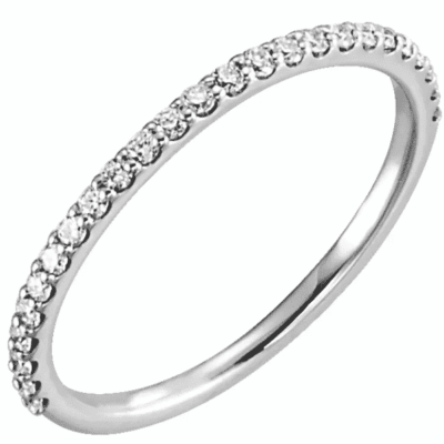 0.25 ctw. Double Halo Style Wedding Band in 14K White Gold
