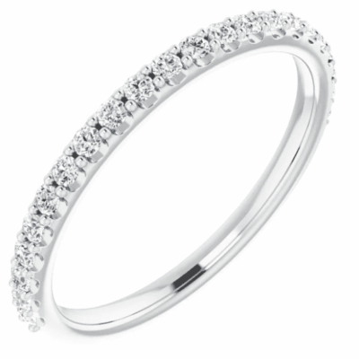 0.33 ctw. Round Cut Diamond Matching Band in Glimmering 14K White Gold