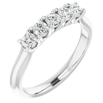 0.52 ctw. Anniversary Band Featuring Round Cut Stones and 14K White Gold
