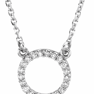 0.15 ctw. Round Cut Diamond Circle Necklace in the Lustrous Gold of Your Choice