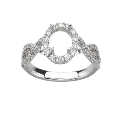 0.25 ctw. Diamond Semi-Mount Setting in a Gorgeous 14K White Gold