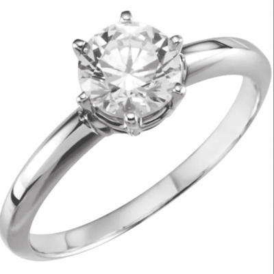 1.13 ct. Round-Cut Diamond Engagement Ring in 14K White Gold