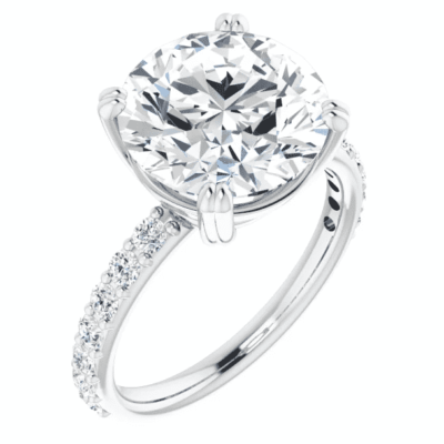 2.23 ctw. Accented Round-Cut Diamond Engagement Ring