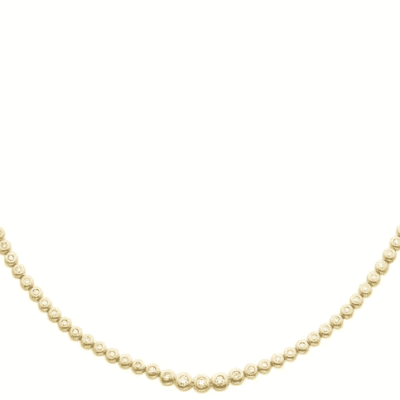 2.60 ctw. Diamond Bezel Necklace in Gleaming 14K Yellow Gold