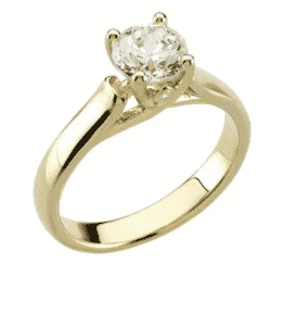 0.75 ctw. Round Cut Diamond Engagement Ring in 14K White Gold