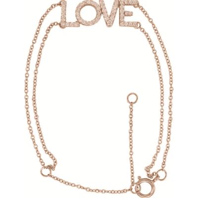 0.25 ctw. Diamond Love Bracelet in 14K Rose Gold