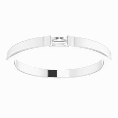 0.10 ct. Men's Accented Diamond Wedding Band in 14K White Gold