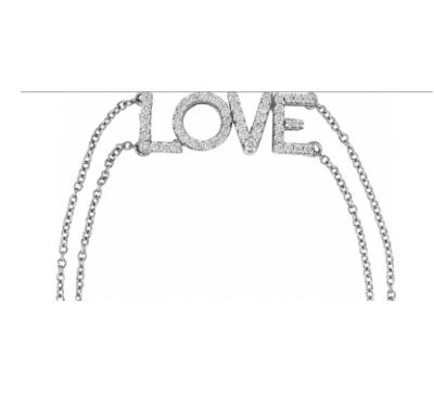 0.25 ctw. Diamond Love Bracelet in 14K White Gold