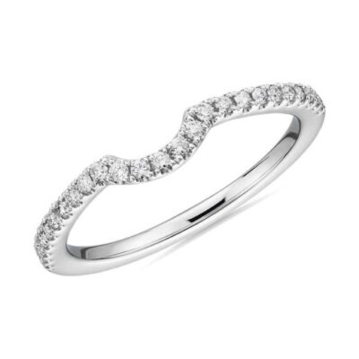 1.01 ctw. Curved Pave Engagement Ring Insert