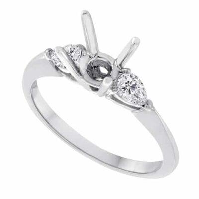.55 ctw. Pear Side Diamond Setting