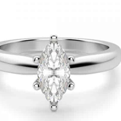 1.01 ct. Marquise Cut Diamond Engagement Ring in 14k White Gold