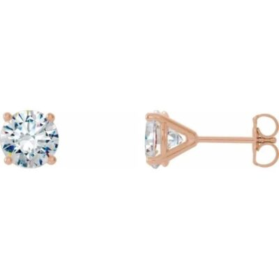 1.00 ctw. Round Cut Diamond Cocktail Earrings in 14K Rose Gold