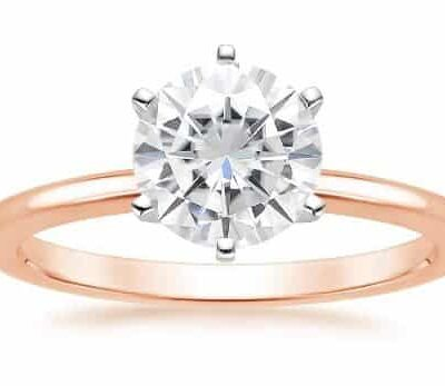 2.25 ct. Round Cut Diamond Engagement Ring set In 14kt Rose Gold