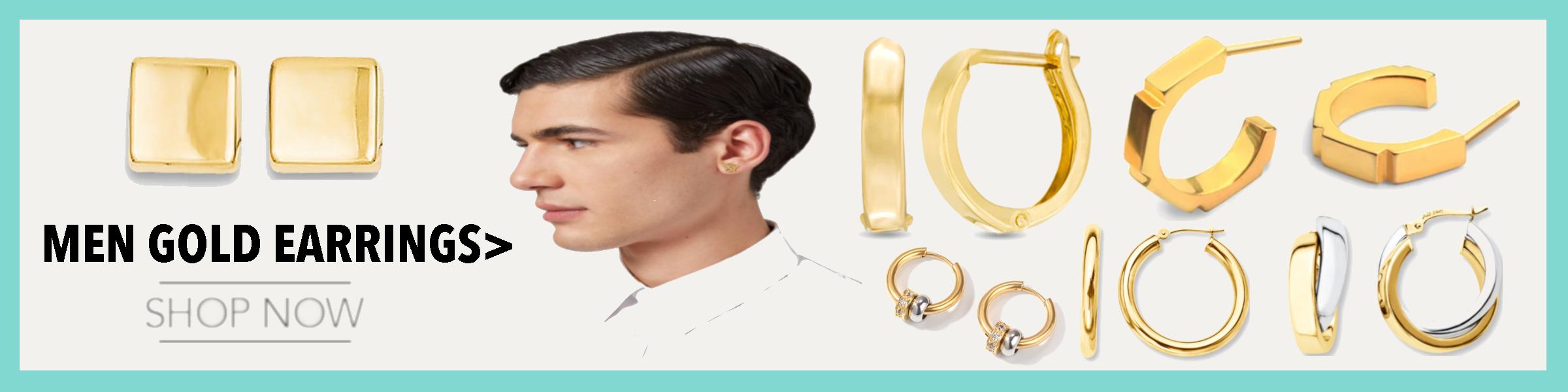 Men Gold Earrings