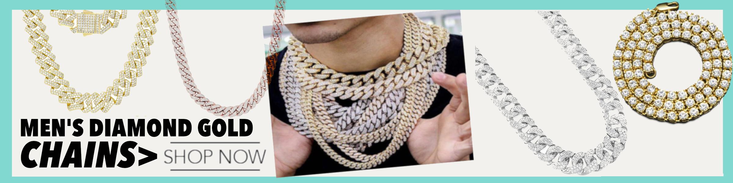Men Diamonds Chain